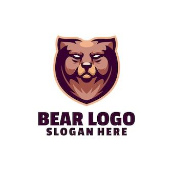 Logotipo do mascote do urso