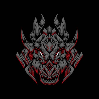 Logotipo do mascote dragon esport