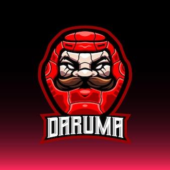 Logotipo do mascote e esporte daruma