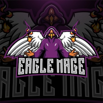 Logotipo do mascote eagles mage esport