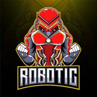 Logotipo do mascote esport robótico