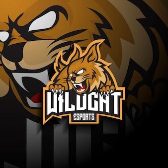 Logotipo do mascote esport wildcat