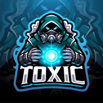 Logotipo do mascote esportivo de gases tóxicos
