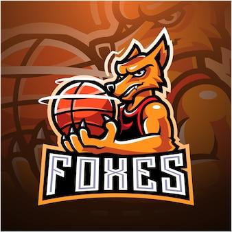 Logotipo do mascote foxes esport