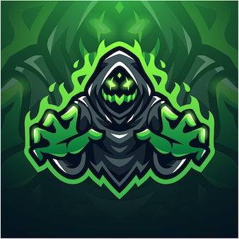 Logotipo do mascote ghost esport