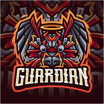 Logotipo do mascote guardian esport