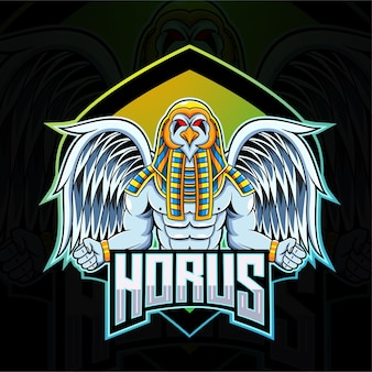 Logotipo do mascote horus esport