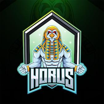 Logotipo do mascote horus esport