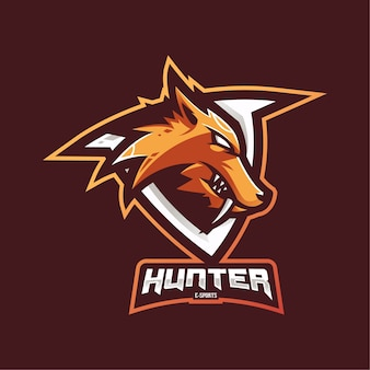 Logotipo do mascote hunter