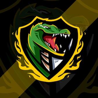 Logotipo do mascote jacaré e crocodilo