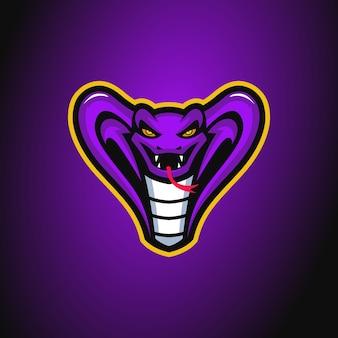 Logotipo do mascote king cobra
