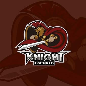 Logotipo do mascote knight e-sports