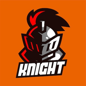 Logotipo do mascote knight