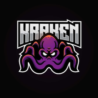 Logotipo do mascote kraken esport