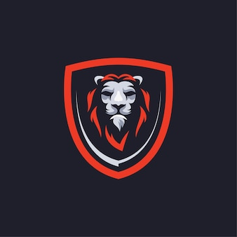 Logotipo do mascote lion esport