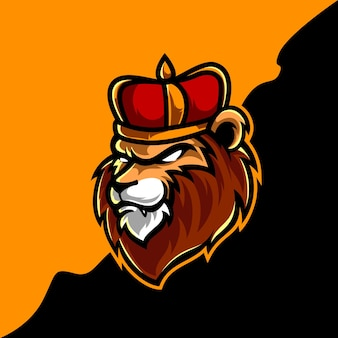 Logotipo do mascote lion king head