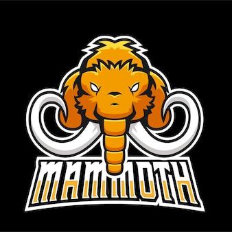 Logotipo do mascote mammoth sport e esport gaming