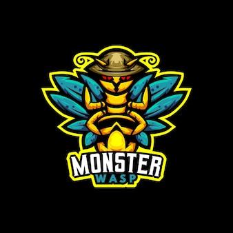 Logotipo do mascote monster wasp