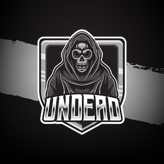Logotipo do mascote morto-vivo