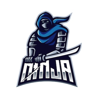 Logotipo do mascote ninja
