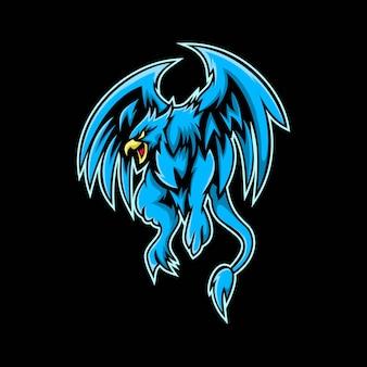 Logotipo do mascote phoenix e esport