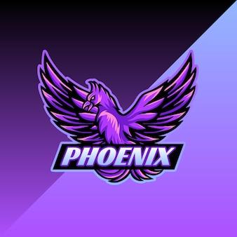 Logotipo do mascote phoenix esport