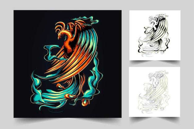 Logotipo do mascote phoenix