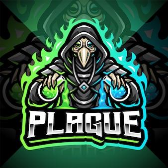 Logotipo do mascote plague doctor esport