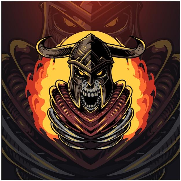 Logotipo do mascote ragnarok esport