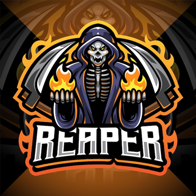 Logotipo do mascote reaper esport