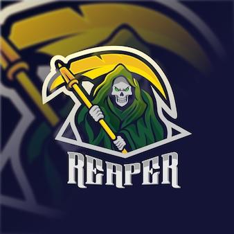Logotipo do mascote reaper para esport