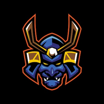 Logotipo do mascote ronin