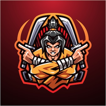 Logotipo do mascote shinobi esport