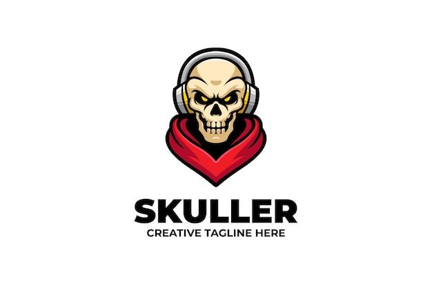 Logotipo do mascote skull e-sport