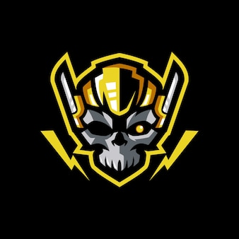 Logotipo do mascote skull gaming