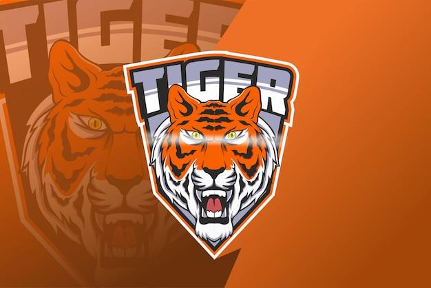 Logotipo do mascote tiger e sport