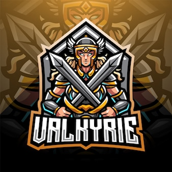Logotipo do mascote valkyrie esport