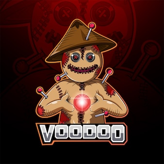 Logotipo do mascote voodoo esport