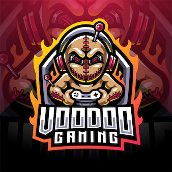 Logotipo do mascote voodoo gaming esport