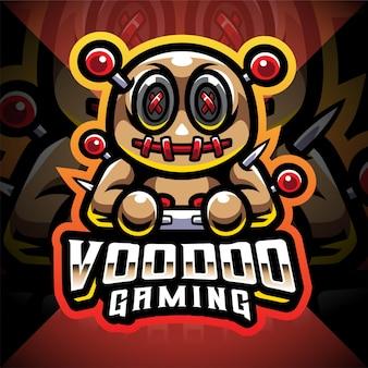 Logotipo do mascote voodoo gaming esport