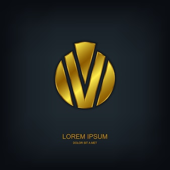 Logotipo do modelo abstrato redondo, ideia universal de tecnologia de negócios