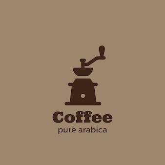 Logotipo do moinho de café.