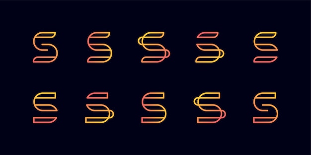Logotipo do monograma com a letra s de estilo de linha de arte, suave, beleza, inicial, logotipo do monograma, logotipo de linha de arte