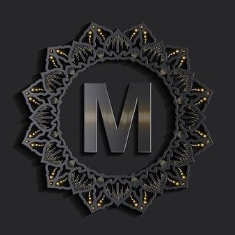 Logotipo do monograma de efeito 3d