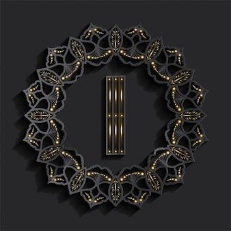 Logotipo do monograma de efeito dourado