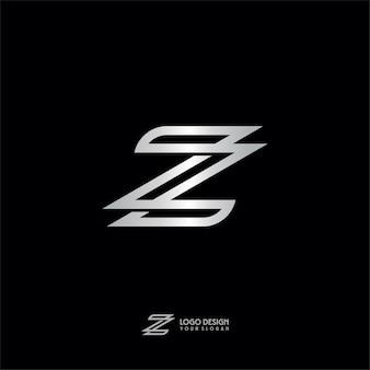 Logotipo do monograma de prata da letra de z