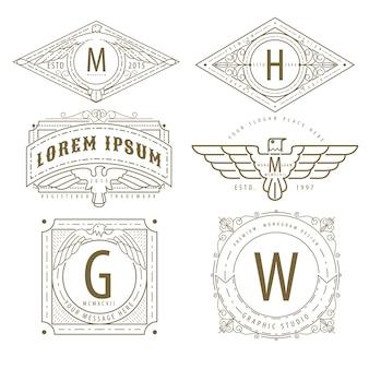 Logotipo do monograma hipster
