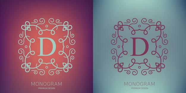 Logotipo do monograma vintage de vetor.