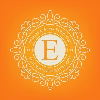 Logotipo do monograma vintage.