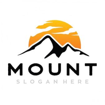 Logotipo do monte e sol
